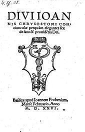 Conciunculae VI de fato et providentia Dei. (graece)