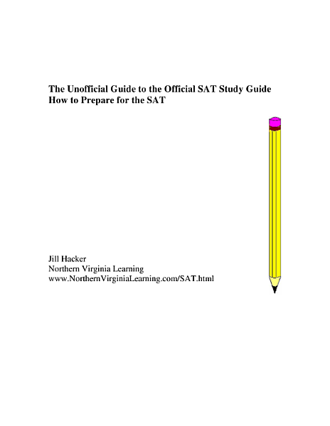 A Guide to the Official SAT Study Guide: How to Prepare for the SAT