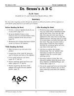 Dr. Seuss Literature Activities--Dr. Seuss's A B C
