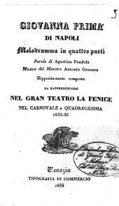 Giovanna prima di Napoli melodramma in quattro parti