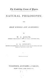 Natural Philosophy for High Schools and Academies