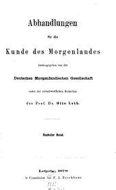 Abhandlungen für die Kunde des Morgenlandes: Band 6