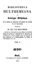 Bibliothecal Hulthamiana: Volume 5