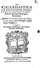 De ecclesiastica satisfactione poenitentis adversuo Benedictum Aretium