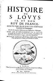 Histoire De S. Louis IX. Du Nom Roy De France ... Enrichie de nouvelles Observations et Dissertations Historiques