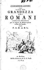 Considerazioni sopra le Cause della Grandezza dei Romani e della loro Decadenza