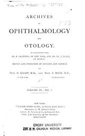 Archives of Ophthalmology and Otology: Volume 4