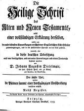 Die Heil. Schrift, nebst einer vollstaendigen Erklaerung derselben aus den Anmerkungen Englaend. Schriftsteller: Band 6