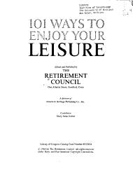 101 Ways to Enjoy Your Leisure PDF