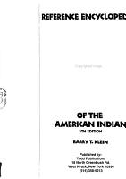 Reference Encyclopedia of the American Indian PDF