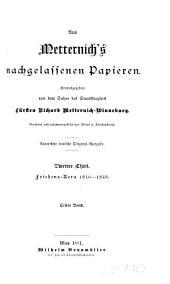 Aus Metternich's nachgelassenen papieren: th., 8. (schluss-) bd. In der ruhezeit. 1848-1859