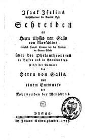 Schreiben an Herrn Ulisses von Salis von Marschlins über die Philanthropinen in Dessau und in Graubündten