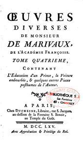 Oeuvres diverses de Monsieur de Marivaux, de l'Académie françoise