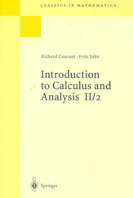 Introduction to Calculus and Analysis Volume II 2 PDF