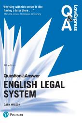 Law Express Question and Answer: English Legal System: Edition 4