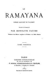 Le ramayana: poème sanscrit dē Valmiky, Volume1