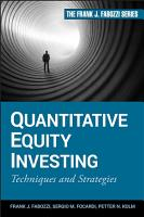 Quantitative Equity Investing PDF