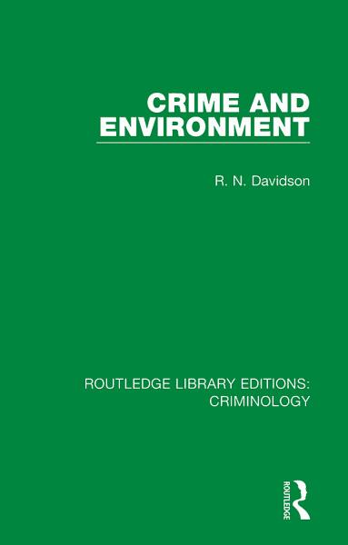 Routledge Library Editions Criminology