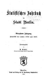 Statistisches jahrbuch der stadt Berlin: Band 14