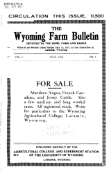 The Wyoming Farm Bulletin Book PDF