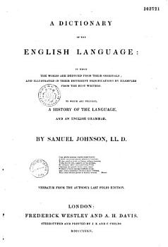 A Dictionnary of the English Language PDF