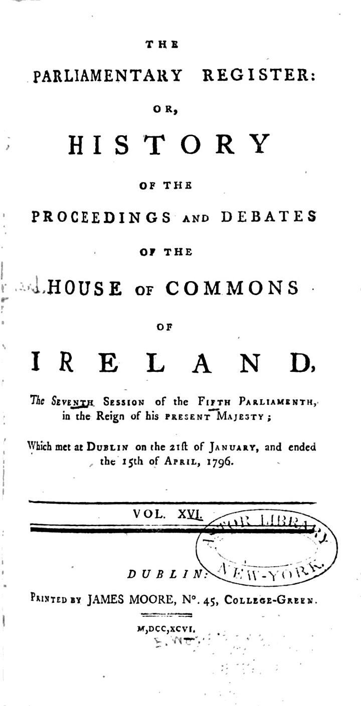 The Parliamentary Register