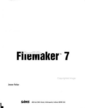 Sams Teach Yourself FileMaker 7 in 24 Hours PDF