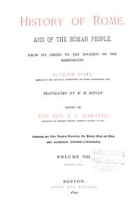 History of Rome  and of the Roman People PDF