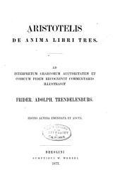Aristotelis De anima libri tres