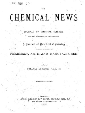 Chemical News PDF