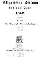 Allgemeine Zeitung München: 1842, [1]