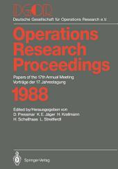 DGOR: Papers of the 17th Annual Meeting / Vorträge der 17. Jahrestagung 1988