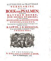 Letterlyke en prakticale verklaring over het boek der Psalmen: Volume 2