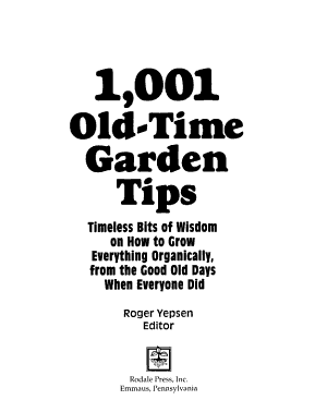 1001 Old time Garden Tips PDF