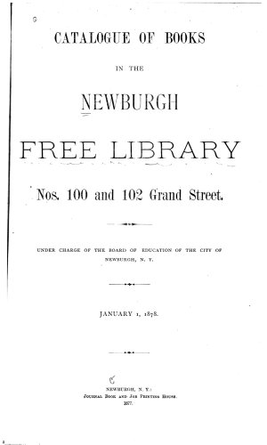 Catalogue of Books in the Newburgh Free Library