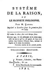 Système de la raison: ou, Le prophète philosophe