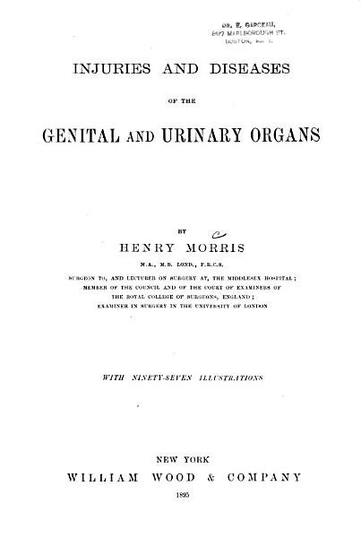 Injuries And Diseases Of The Genital And Urinary Organs