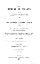The history of England: from the accession of George III, 1760,to the accession of Queen Victoria, 1837, Volume 3