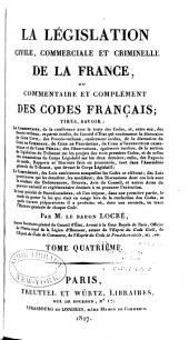 La législation civile, commerciale et criminelle de la France: Code civil