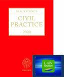 Blackstone s Civil Practice 2020  Digital Pack PDF
