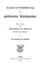 Staats- und socialwissenschaftliche Forschungen: Band 11;Bände 46-50