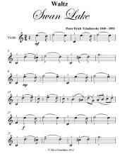 Waltz Swan Lake Easy Violin Sheet Music