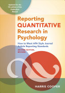 Reporting Quantitative Research in Psychology Book