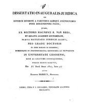 Dissertatio inauguralis juridica de bonorum divisione a parentibus aliisque ascendentibus inter descendentes facta