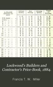 Lockwood's Builders and Contractor's Price-Book, 1884.