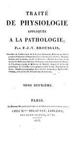 Traité de physiologie appliquée à la pathologie: Volume2