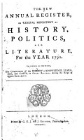 The New Annual Register  Or General Repository of History  Politics  and Literature PDF