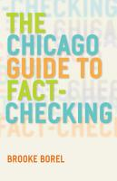 The Chicago Guide to Fact Checking PDF