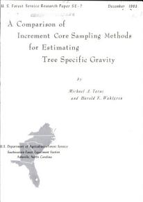 A Comparison of Increment Core Sampling Methods for Estimating Tree Specific Gravity PDF