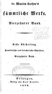 Dr. Martin Luther's sämmtliche Werke: Band 14